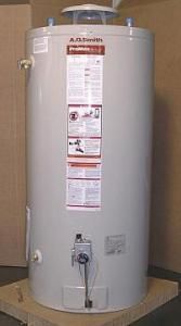 a brand new water heater installed by a Bakersfield water heater repair tech